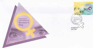 2011-Centenary-of-International-Womens-Day-FDC-Edithvale-Vic-3196-PMK