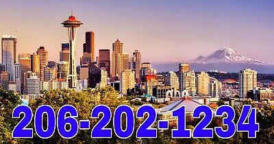 206 area Easy Phone Number 206-2X2-1234 Seattle UNIQUE Memorable Best BIZ (Best 2 Sim Card Phone)