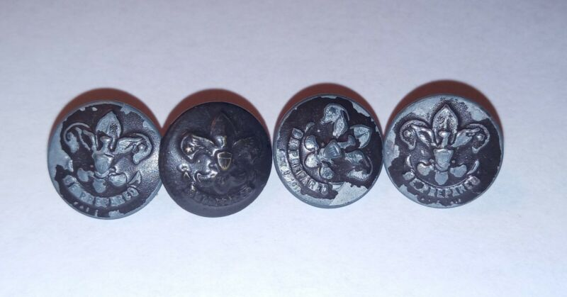 """1911 Boy Scout Eisner Buttons """"Be Prepared"""" Lot"""