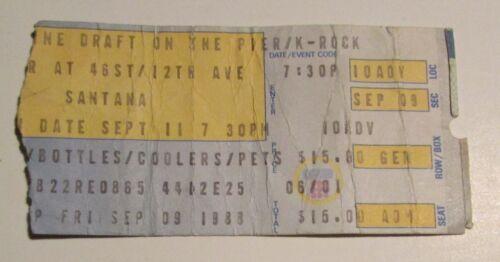 1988 SANTANA Concert Ticket Stub VG 4.0 K-Rock Pier NYC