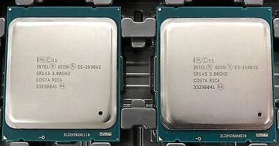 Matched Pair Intel E5-2690 v2 SR1A5 3Ghz 10 Core 25MB Socket LGA 2011 Xeon CPU