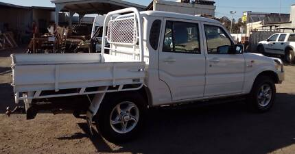 2010 Mahindra Pik-Up Diesel 4WD Twin Cab Ute with steel tray