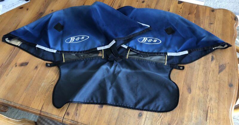 BOB Revolution Duallie Jogger Stroller Blue & White CANOPY - 2004-10.
