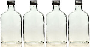 5 x 100 ml leere glasflaschen taschenflasche flachmann flasche 0 1 liter ebay. Black Bedroom Furniture Sets. Home Design Ideas