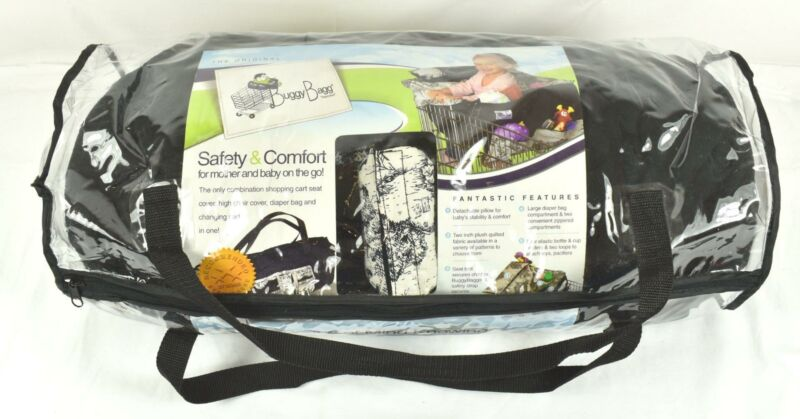 * Baby Buggy Bagg Shopping Cart Chair Cover Changing Pad Diaper Bag