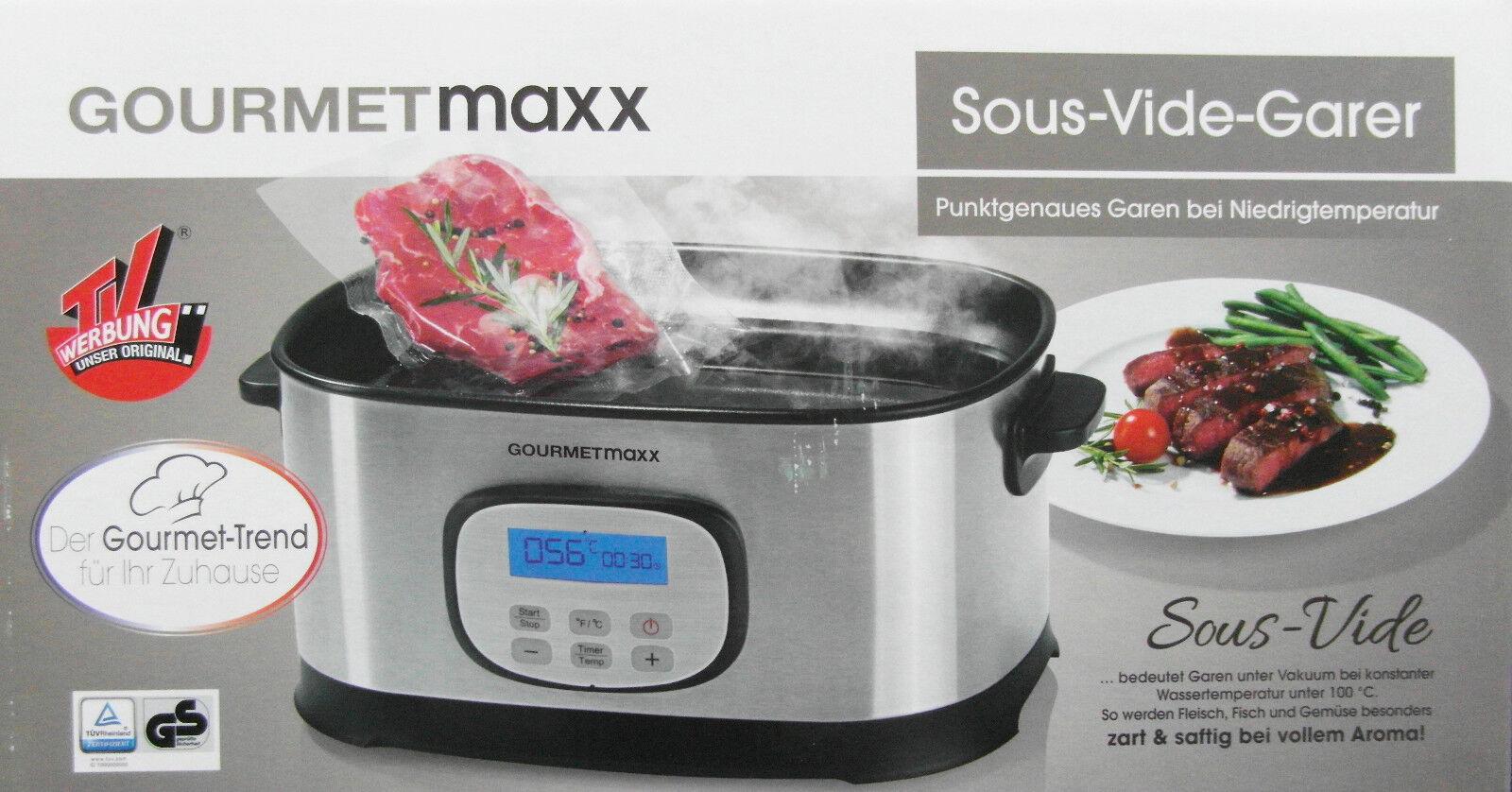 Gourmetmaxx Sous-Vide-Garer punktgenaues Garen bei Niedrigtemperatur Neu