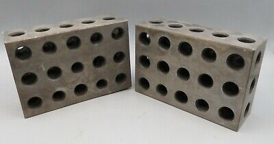 Machinist Gage Gauge Block 2-4-6 246 Pair With Holes