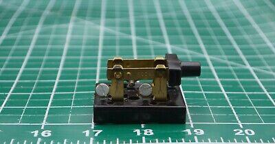 Nos Rodale 123 Radio Battery Vintage Dpst Knife Switch Bakelite Base Steampunk