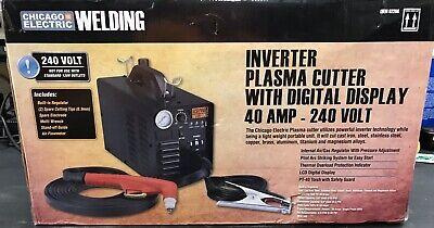 Nib Chicago Electric Welding Inverter Plasma Cutter Wdigital Display 40a 240v