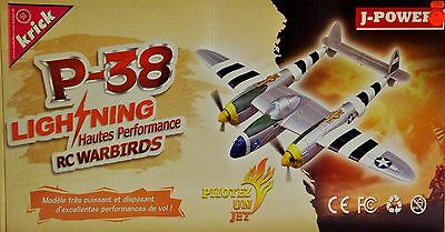 P-38 Lightning Silver WW2 RC-Flugzeug