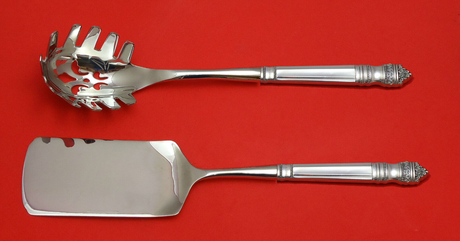 Old Master by Towle Sterling Silver Italian Pasta Server Set 2pc HHWS  Custom