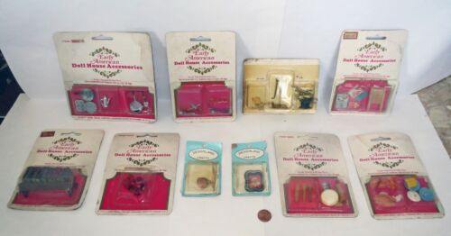 Large Lot 1970s DOLLHOUSE EARLY AMERICAN - MINIATURE SALESMAN SAMPLE ACCESSORY