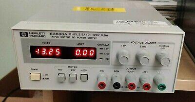 Hp E3630a 0-6v 2.5a0 - 20v 0.5a 250v Triple Outlet Dc Power Supply