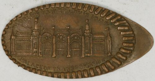 1904 St. Louis Worlds Fair Elongated Cent. Palace of Transportation. RAW4096/BH