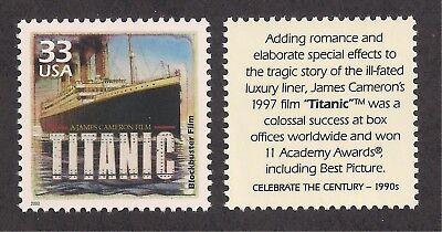 TITANIC - 1997 BLOCKBUSTER MOVIE - U.S. POSTAGE STAMP - MINT CONDITION