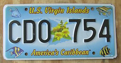 US VIRGIN ISLANDS - ST CROIX - CARIBBEAN ISLAND license plate  2005  CDO 754