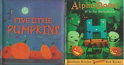 Halloween Movie Themed Pumpkin (Five Little Pumpkins + AlphaOops! H is for Halloween 2 themed picture)