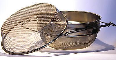 Doppelsieb 24 cm Edelstahl, Honig, Honigernte, sieben, Dr. Liebig, Honig Sieb