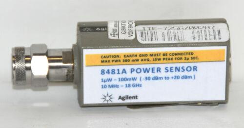 HP 8481A 10 MHz to 18 GHz -30 to +20 dBm Power Sensor