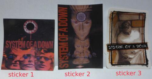 System of a Down sticker (3) set Licensed NOS no longer made