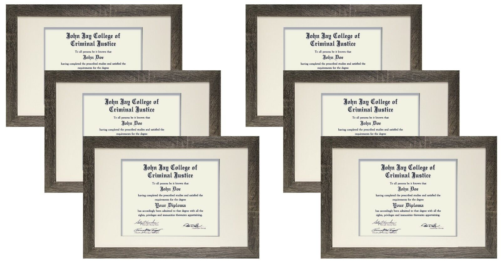 value 6 pack 11x17 inch distressed grey