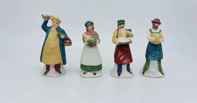 Department 56 Shopkeepers Heritage Village Set of 4 Porcelain