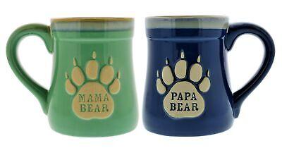 Mama & Papa Bear Ceramic Coffee Mug- Nobody Messes with My Cubs, 18 oz Bear Ceramic Coffee Mug