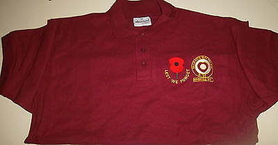 HEARTS FC POLO SHIRT McCRAE'S BATTALION LEST WE FORGET