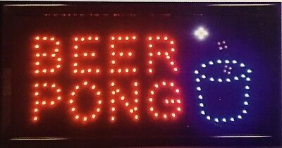 Beer Pong Led Neon Signstore Signbusiness Signwindow Signpub Bar Club Sign