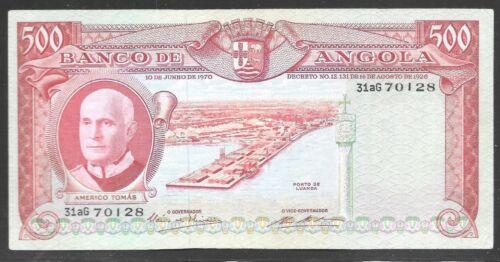 Angola 1970 500 Escudos Banco de Angola  AU Pk-97