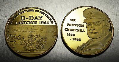 24ct Gold WINSTON CHURCHILL Commemorative WW2 D-DAY LANDINGS Album/Filler