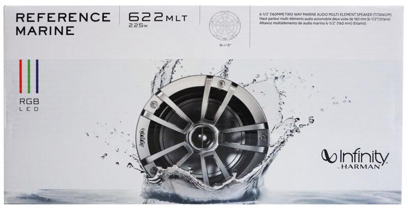 """Infinity 6.5"""" 2-Way Marine Audio Multi-Element Speakers RGB  Lights Pair *622MLT"""
