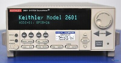 Keithley 2601 System Sourcemeter Smu 40v 3a Dc 10a Pulse - Nist Calibrated