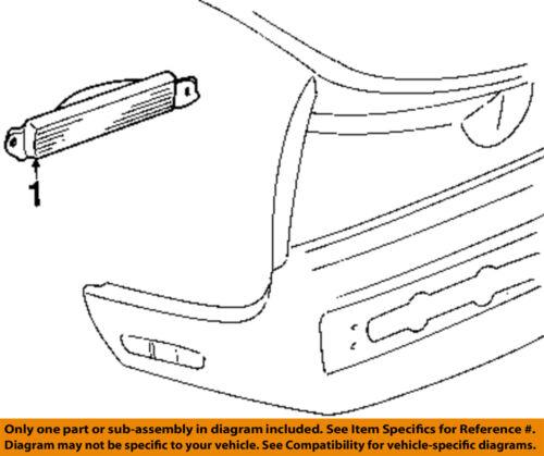 Oldsmobile GM OEM Toronado Backup Lamps-Rear Lamps-Backup Lamp Right 5974662