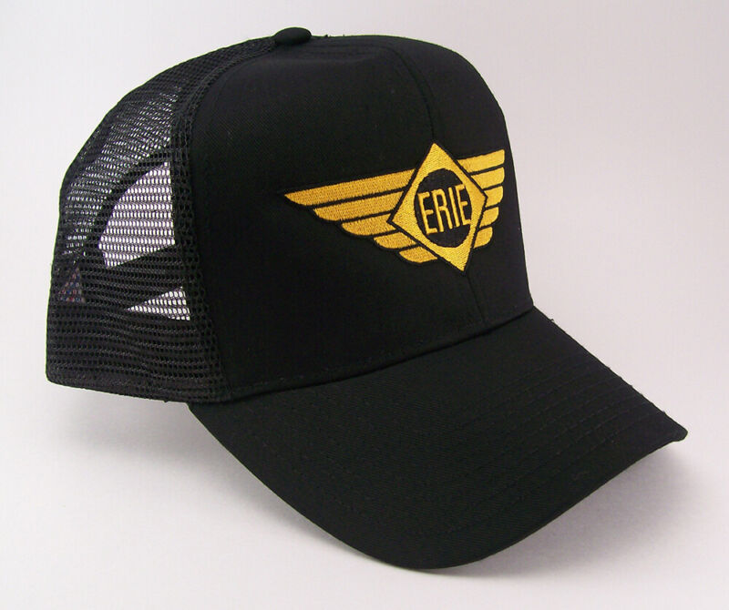 Erie Railroad Logo With Wings Embroidered Mesh Cap #40-5200bm