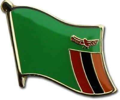 Wholesale Pack of 50 Zambia Country Flag Bike Hat Cap lapel Pin