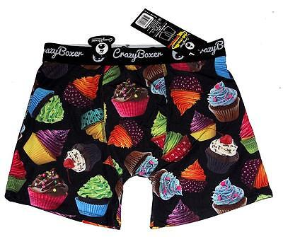 Crazy Boxer Bright Neon .FROSTED SPRINKLES CUPCAKES Mens Boxer Briefs NWT DISC