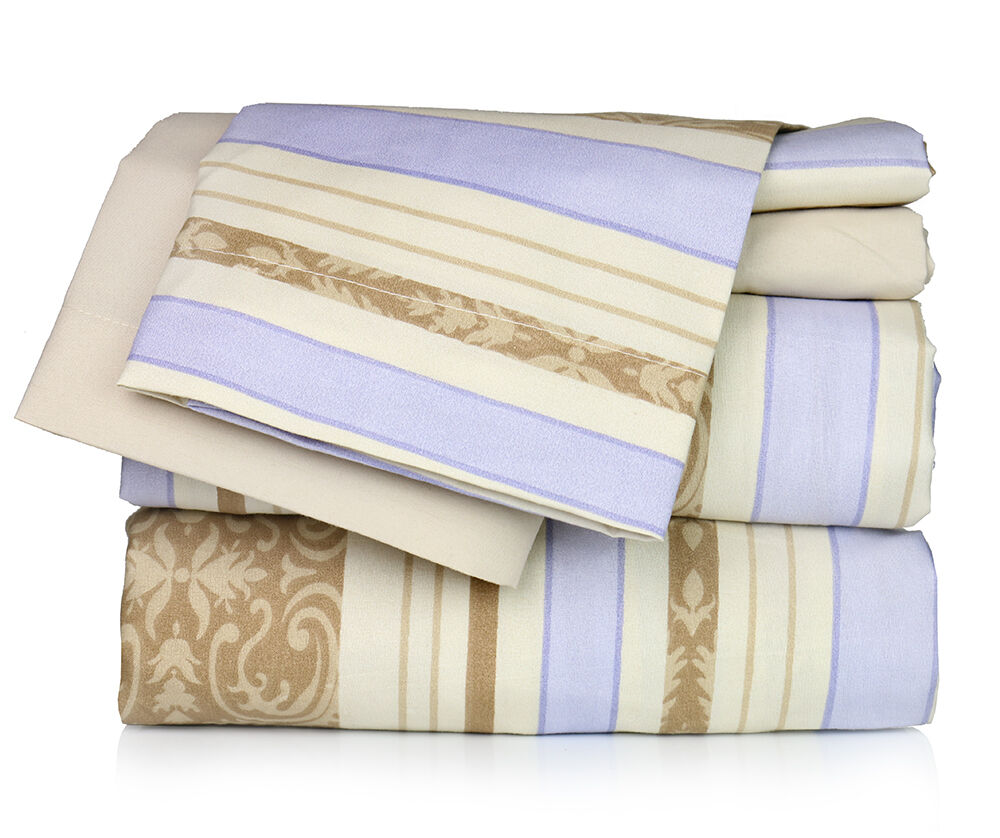 Super Soft Luxury Floral Six(6) Piece Bed Sheet Set comes in 4 Sizes & 6 Colors!