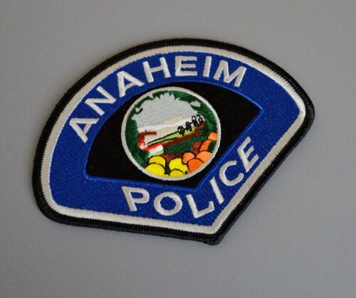 Anaheim California Police Silver Letter version Patch ++ Mint Orange County CA