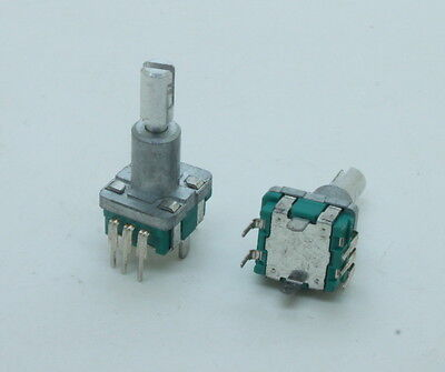2 X Alps Ec11 Rotary Encoder 30 Pulses 20mm Shaft Pc Mount With Push On Switch