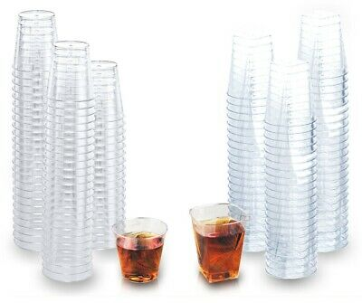 Mini Plastic Shot Glasses (Disposable Plastic Shot Glasses Clear Crystal-like Standard and Mini Shot)