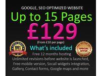 15 Pages for £129 | Website design | Website development | SEO Services