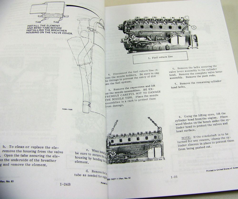 8 of 9 International D Dt-436 Diesel Engine Service Repair Shop Manual  Dt436 D436
