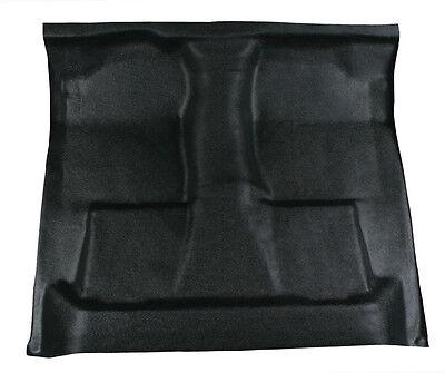 Black Vinyl Floor Mat - replaces carpet 99-07 Ford F350 super duty crew cab auto Black Auto Floor Mat