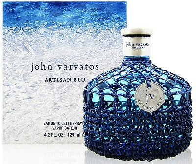 JOHN VARVATOS ARTISAN BLU Cologne 4.2 oz edt men New in Box