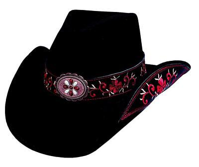 Bullhide Hats 0476Blr Sassy Cowgirl Collection All For Good Black/Red Cowboy - Red Cowgirl Hats