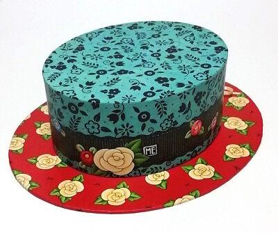 Mary Engelbreit Flower Burst Decorative Hat Box, Punch Studio