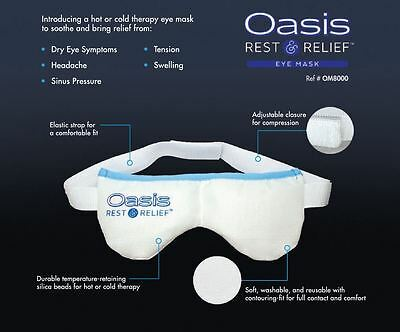 Oasis REST & RELIEF Eye Mask - Hot and Cold Therapy for the relief of dry eye