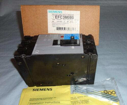 Siemens EFC3M080 Circuit Breaker Molded Case IEC Sentron 80A 3P 415 VAC NEW