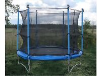 8FT Trampoline New in box w/ Surrounding Safety Nets & Cushioned Springs Cover never used